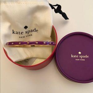 Kate Spade bangle bracelet purple and gold